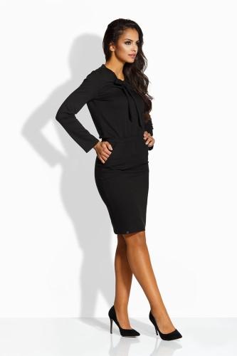 527555c0 Sukienka z wiązaniem przy dekolcie czarna Envy Me