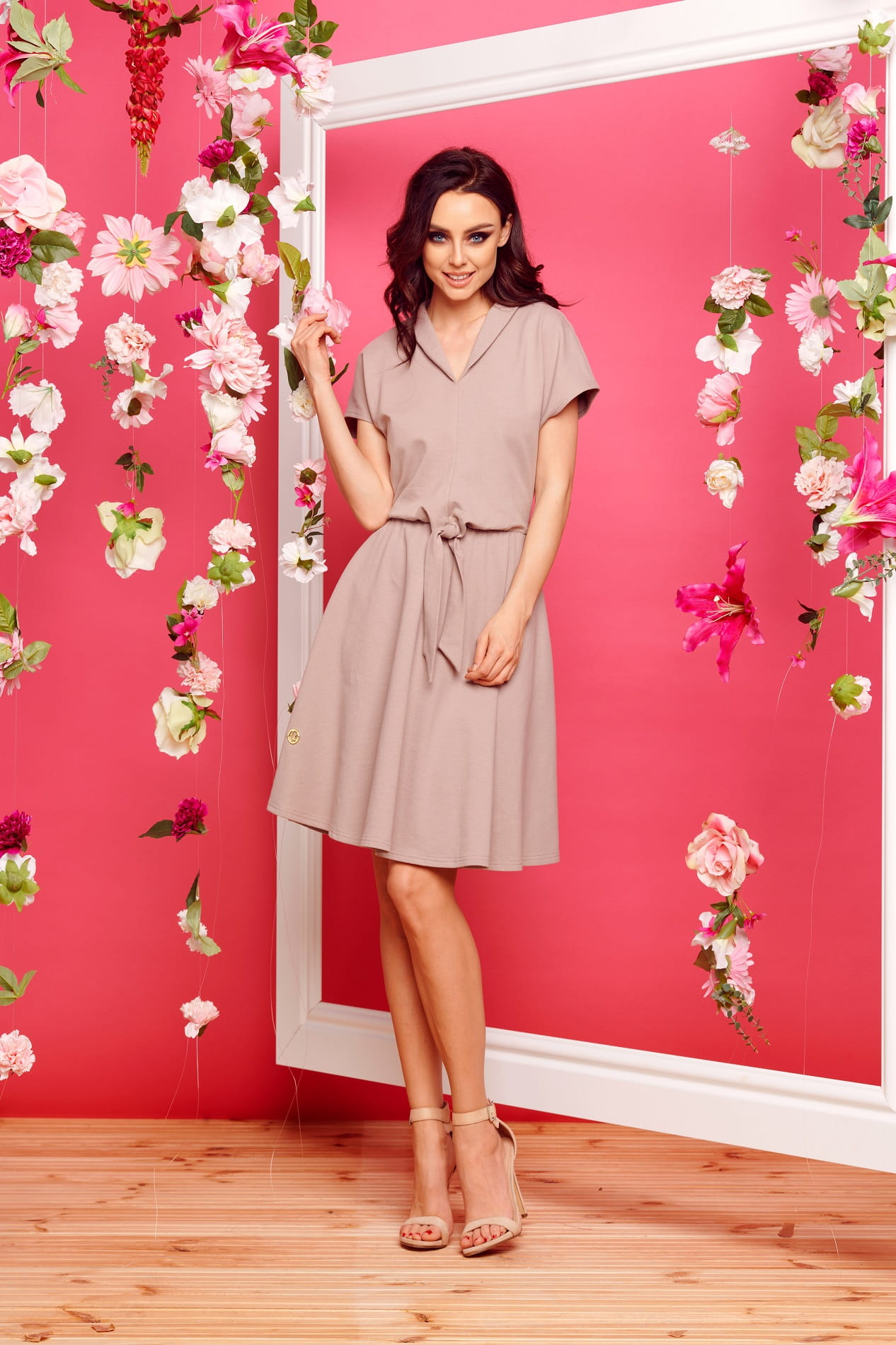 bf98e5428b Sukienka dresowa elegancka capucino Lemoniade BERKA odzież damska i ...